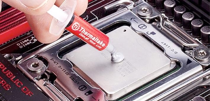 Замена термоинтерфейса (термопасты) на процессоре, фото